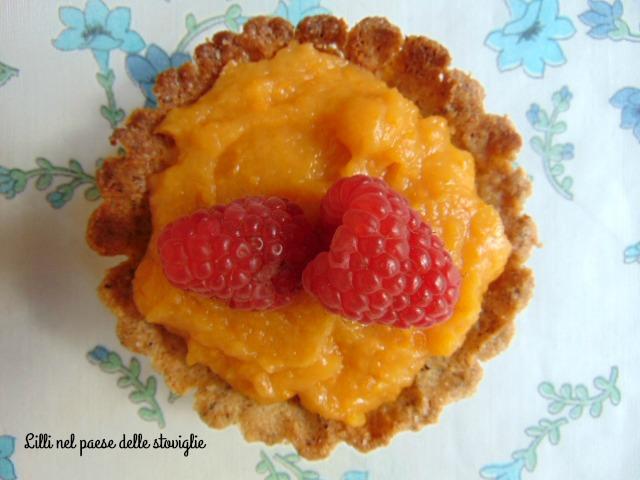 tortine, grano saraceno, frutta, dolci, albicocche, curd, crema, piccola pasticceria, dolci
