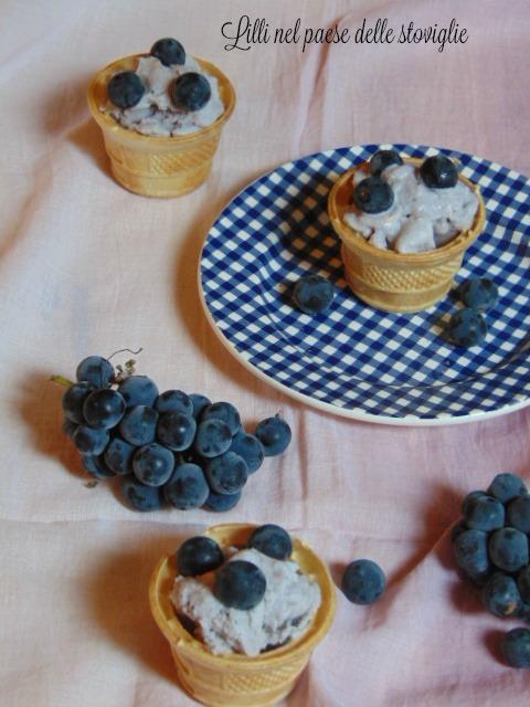 gelato, frutta, uva fragola, bevande, moscato