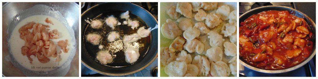pollo, carne, agrodolce, verdure, dal mondo, orientale