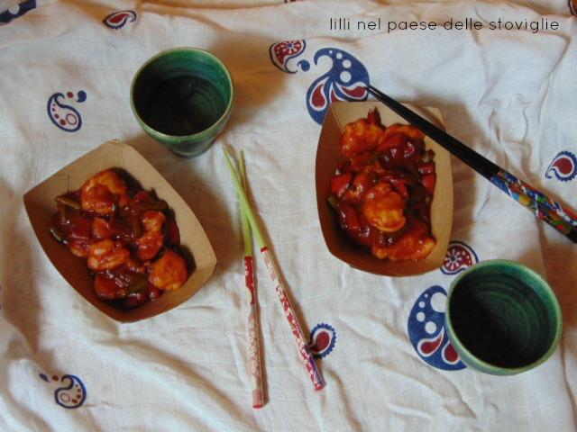 pollo, carne, agrodolce, orientale, dal mondo, verdure