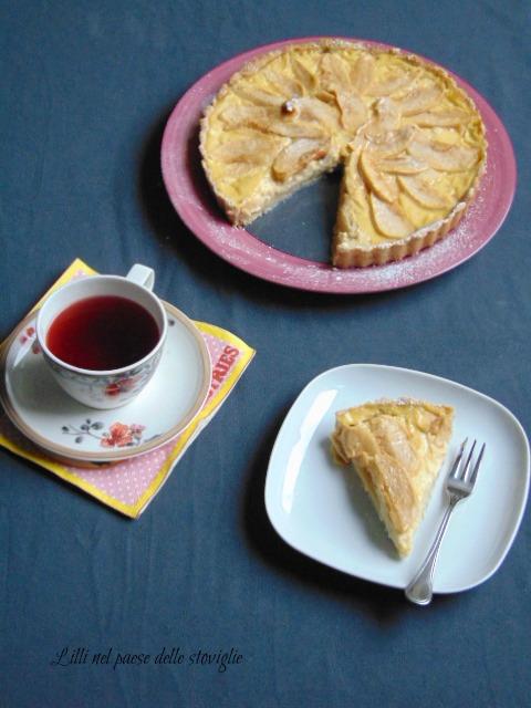 crostata, torte, dolci, colazione, merenda, mele, frutta, spezie, cannella, crema