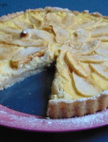 crostata, torte, dolci, colazione, merenda, cannella, spezie, frutta, mele, crema