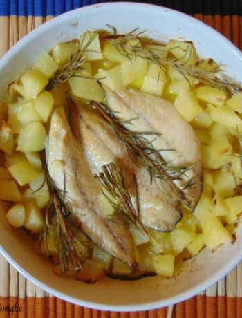 pesce, sgombro, secondi piatti, patate