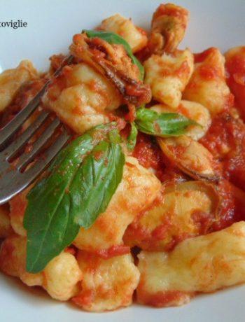 pomodoro, cozze, pesce, primi, gnocchi, patate