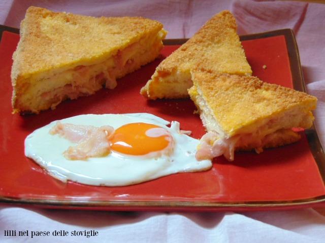 french toast, dal mondo, colazione salata, uova, bacon, salumi