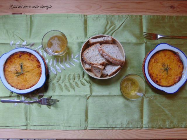 patate, zucca, porri, verdure, sformato, secondo