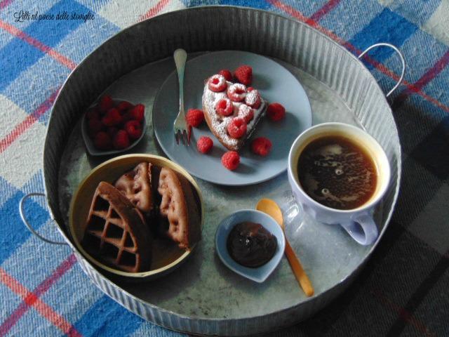 waffle, cacao, colazione, merenda, dolci, dal mondo
