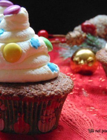 cioccolato, muffin, smarties, dolci, panna montata, natale,