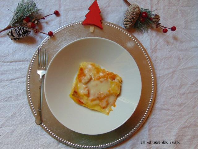 lasagne, primi, pasta fresca, gamberi, pesce, zucca, verdure
