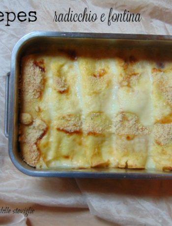 crepes, uova, primi, verdure, radicchio, fontina, formaggio