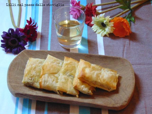 fagottini, antipasto, finger food, aperitivo, verdura, broccoli, acciughe, pesce, mozzarella, formaggio