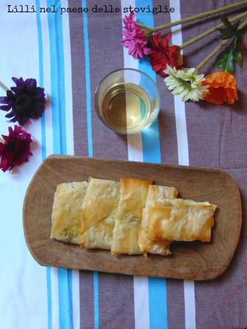 fagottini, mozzarella, formaggio, pesce, acciughe, verdure, broccoli, antipasto, aperitivo, finger food