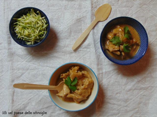 pollo, carne, curry rosso, spezie, dal mondo, latte di cocco