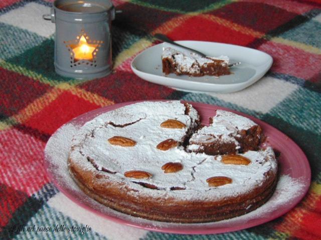 torta, cioccolato, gianduia, colazione, merenda, frutta secca, noci pecan