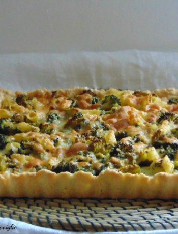 pasta brisee, torta, pasta, broccoli, pasta al forno, verdure, primo