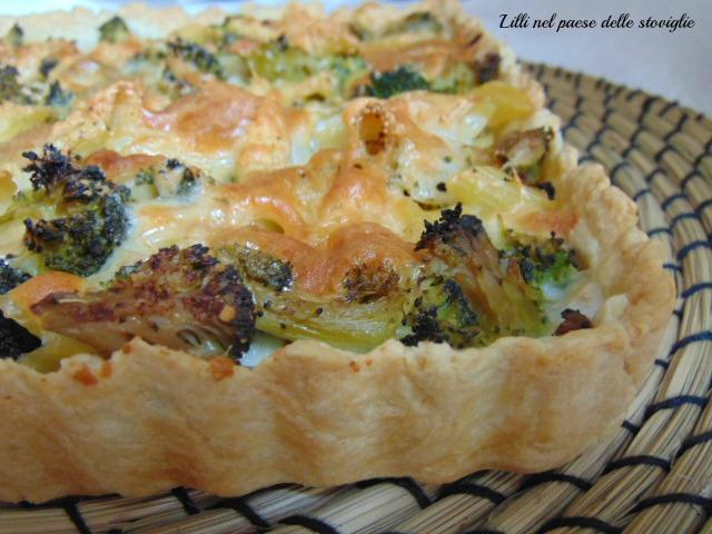 torta, pasta brisee, broccoli, verdure, primi, pasta