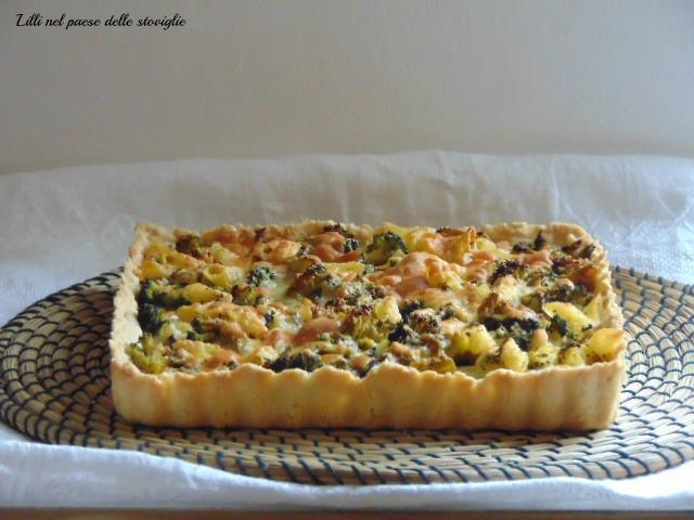 pasta brisee, torta, broccoli, verdure, pasta al forno, pasta, primi