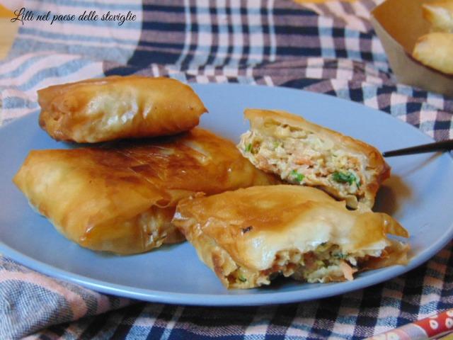 involtini, antipasto, finger food, aperitivo, verdure, gamberi, pesce, fritto, asia