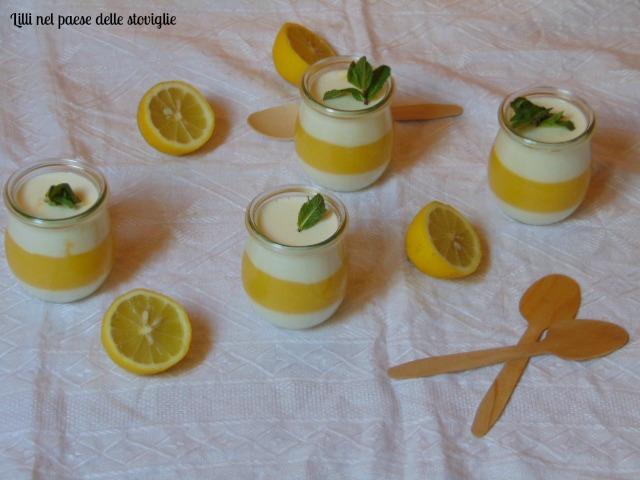panna cotta, dolci, dolci al cucchiaio, limoni, frutta, creme, lemon curd
