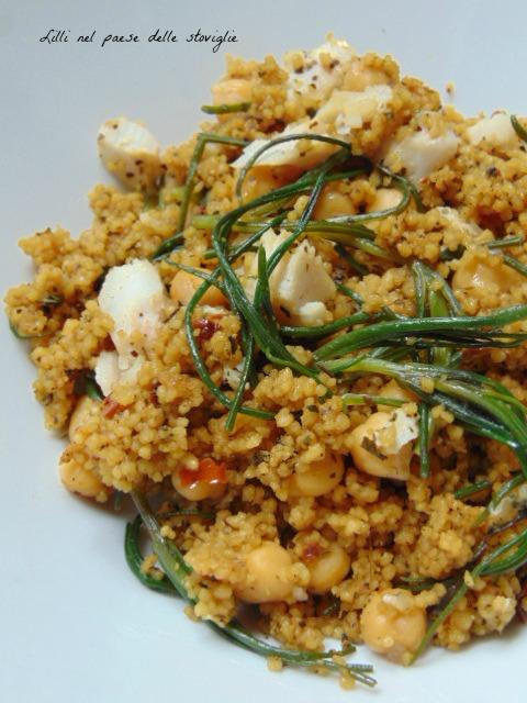 cous cous, cereali, agretti, verdura, san pietro, pesce, ceci, legumi, primi, piatto unico