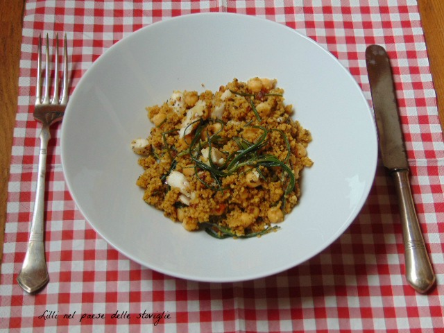 cous cous, cereali, primi, agretti, verdure, ceci, legumi, san pietro, pesce, piatto unico