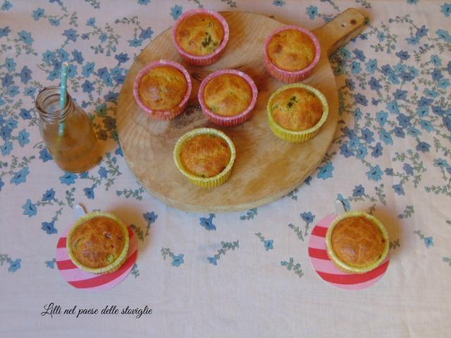 muffin, finger food, antipasti, asparagi, verdura, pecorino, formaggio, pancetta, salumi