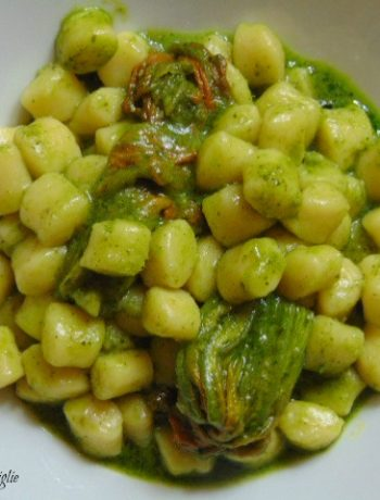 chicche, gnocchi, patate, fiori di zucca, verdure, pesto