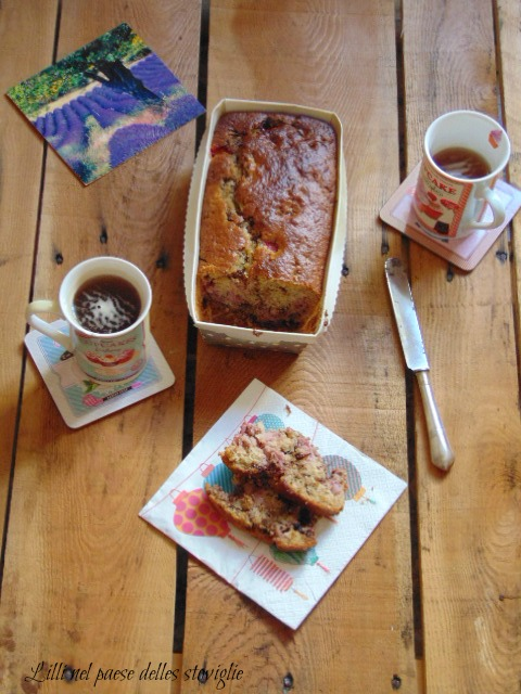 plumcake, cioccolato, dolci, colazione, merenda, cocco,fragole, frutta