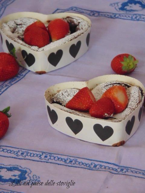 torta, dolci, colazione, merenda, cioccolato, fragole, frutta
