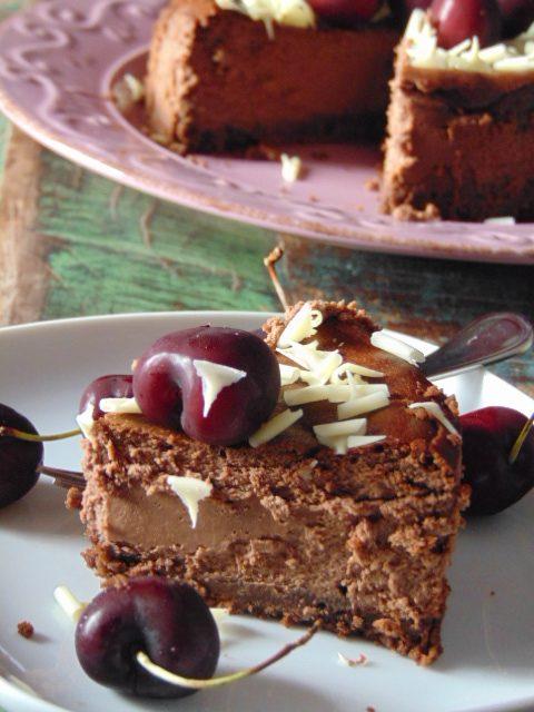 cheesecake, cioccolato, caffè, bevande, dolci, dolci al cucchiaio