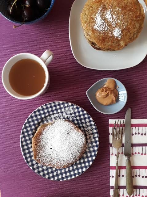 pancake, pistacchi, frutta secca, colazione, merenda, dolci, senza lattosio, dal mondo