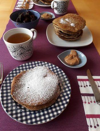 pancake, pistacchi, frutta secca, colazione, merenda, dolci, dal mondo, senza lattosio