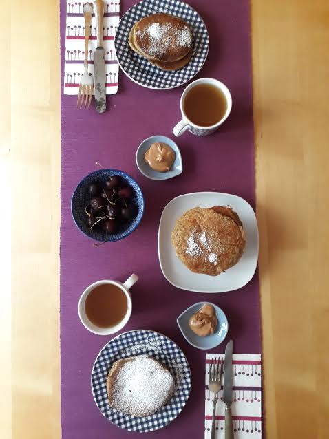 pancake, pistacchi, frutta secca, colazione, merenda, dal mondo