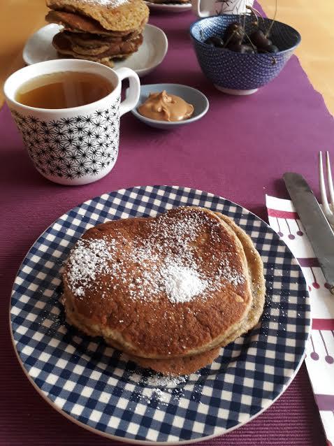 pancake, dal mondo, frutta secca, pistacchi, colazione, merenda, senza lattosio
