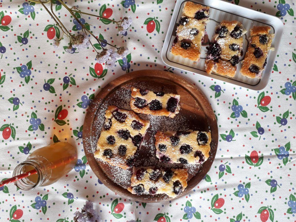 torta, dolci, dolci al cucchiaio, more, frutta, cocco, merenda, colazione