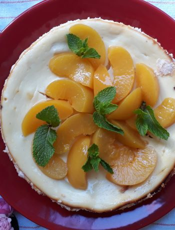 cheesecake, dolci, dolci al cucchiaio, torte, dal mondo, frutta, pesche, formaggio