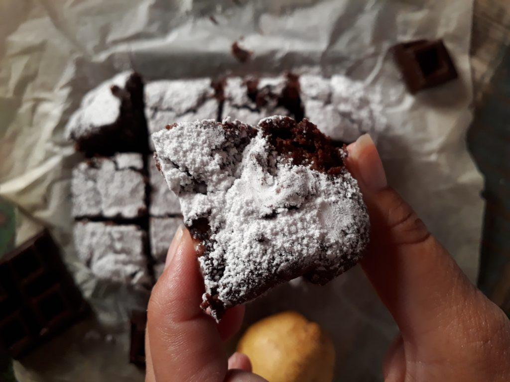 browniw alle pere e cioccolato