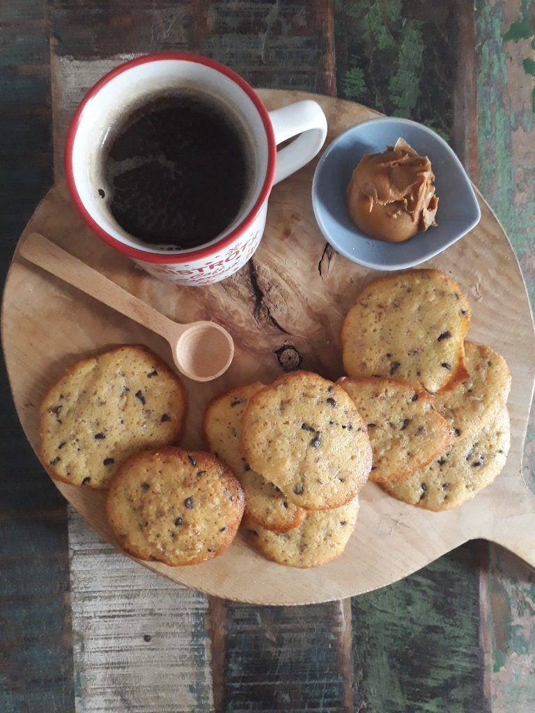 cookies al cioccolato con burro di arachidi