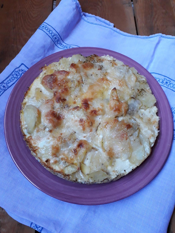 sformato di patate con formaggio taleggio