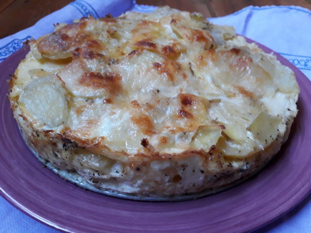 sformato al forno con patate e taleggio