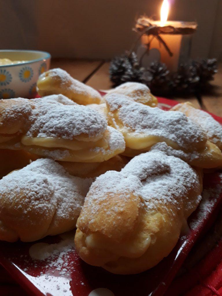 esclairs francesci con crema al limoncello