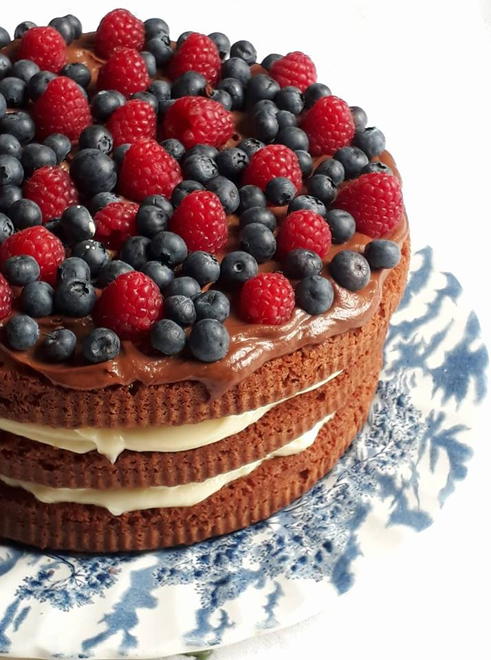 torta ai due cioccolati