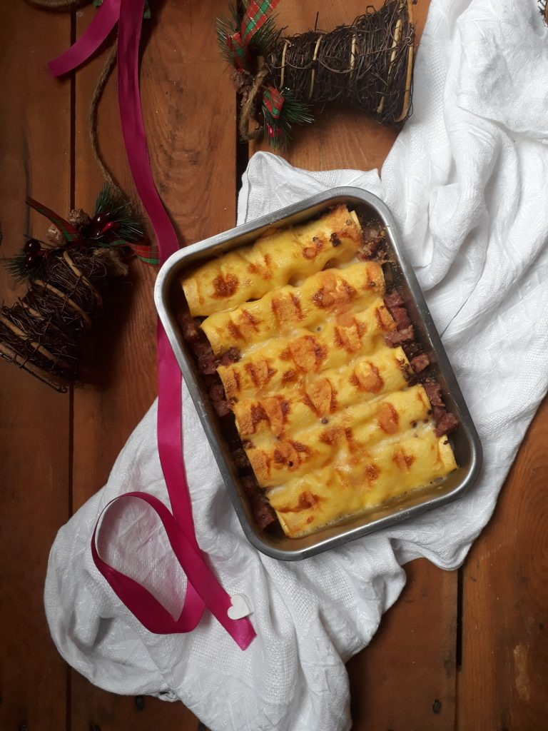 cannelloni con cotechino e lenticchie