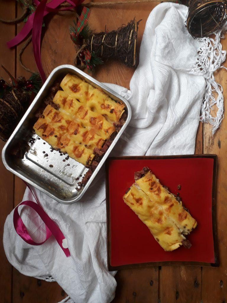 cannelloni ripieni con cotechino e lenticchie
