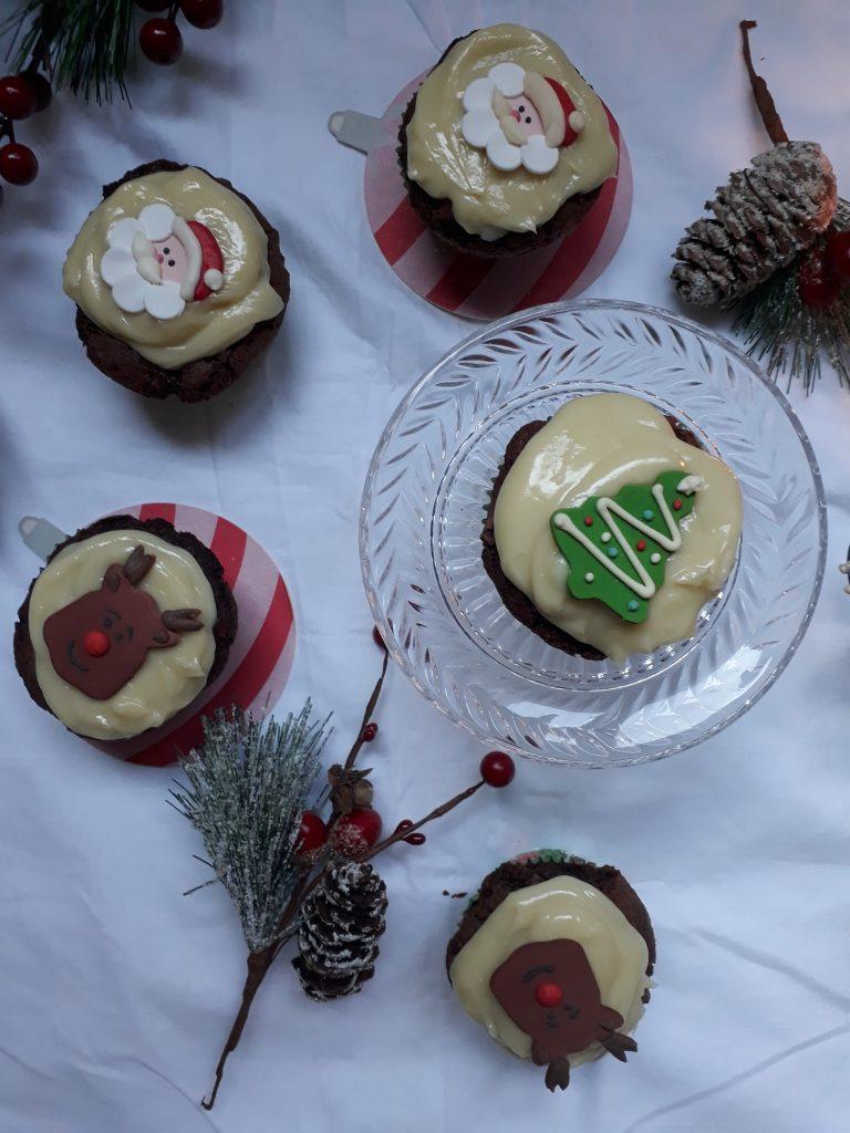 cupcake pere e cioccolato