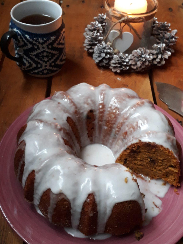 torta da credenza con zucca cioccolato e amaretti
