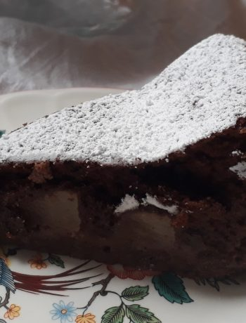 crostata soufflè pere e cioccolato