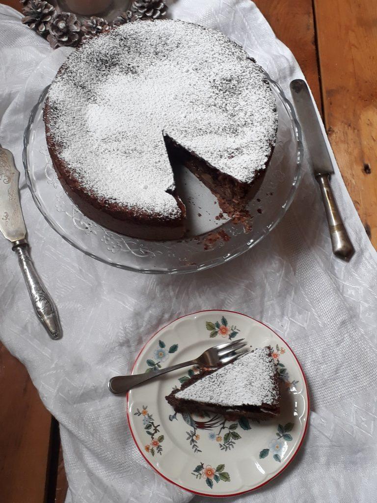 torta soufflè pere e cioccolato