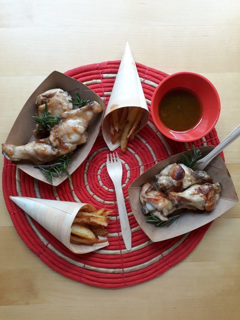 ali di pollo con spezie e marinatura