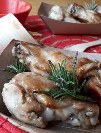ali di pollo speziate e marinate